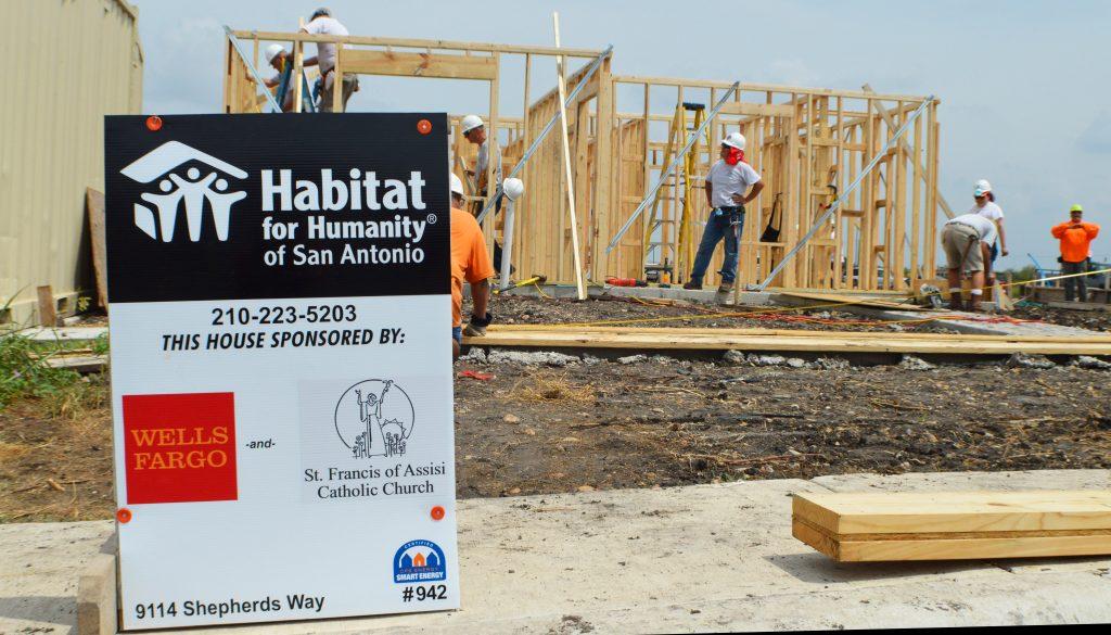 habitat sponsor sign
