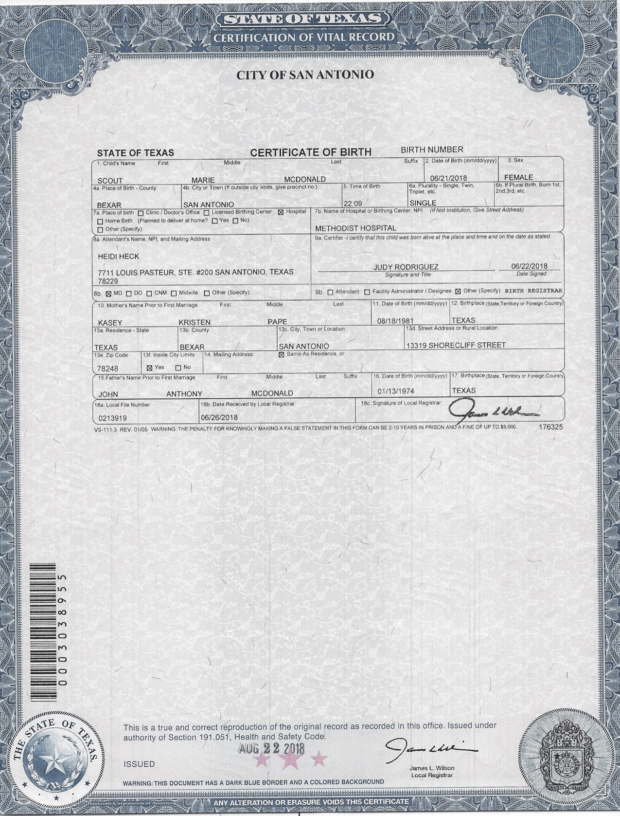 Scout Birth Certificate St Francis Of Assisi