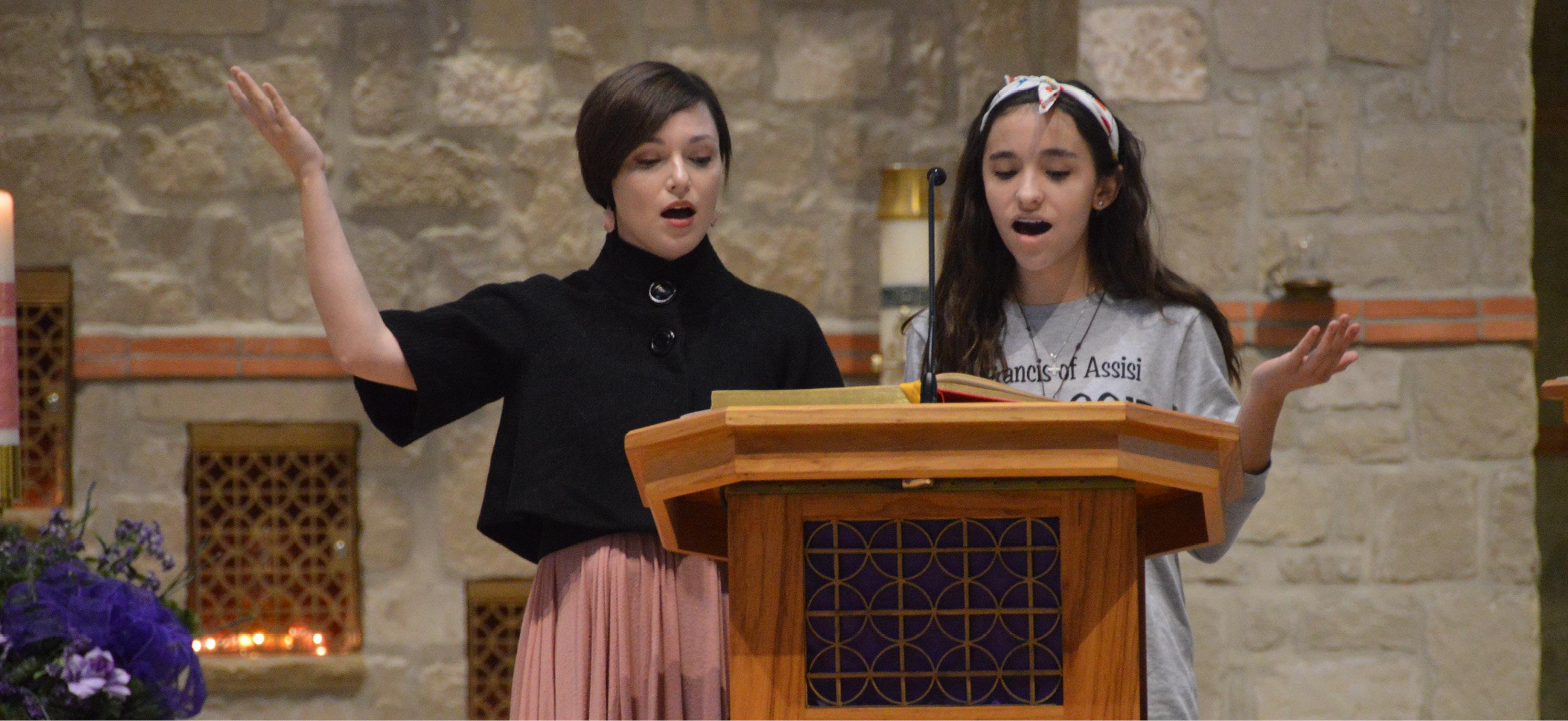 Girls-Singing-at-Mass